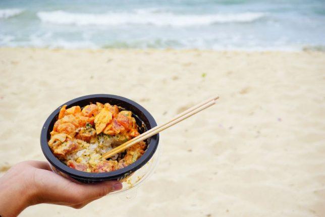 havajské ostovy oahu poke bowl