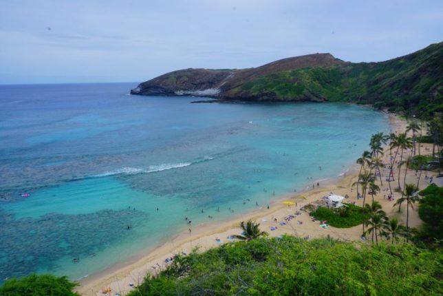 havajské ostovy oahu hanauma bay