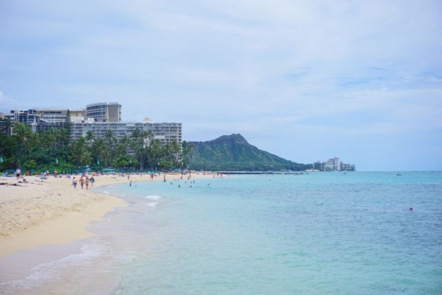 havajské ostovy oahu waikiki beach
