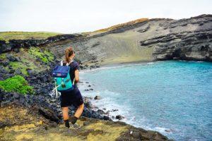 havajské ostrovy green sand beach